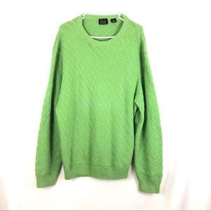 Jos. A Bank Signature Collection Green Sweater